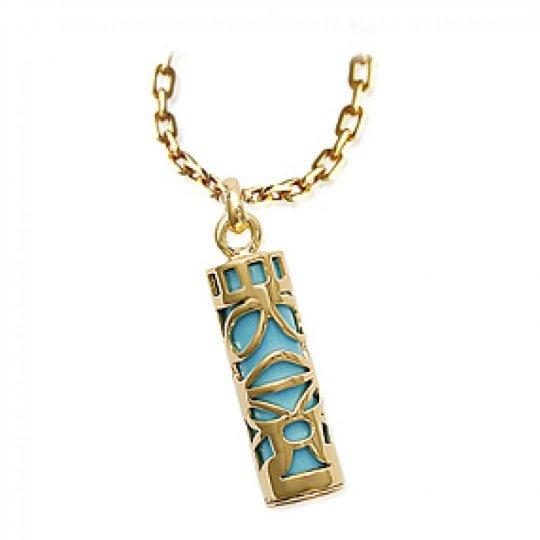 Anhänger Tiki Bleu Turquoise Vergoldet 18k pour Männer...