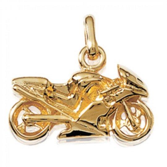 Anhänger Moto de course Vergoldet 18k pour Männer Damen