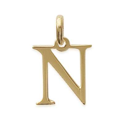 Pendants Lettre N Gold plated 18k pour for Men Women