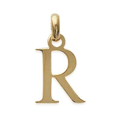 Pendants Lettre R Gold plated 18k pour for Men Women