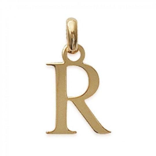 Pendentif Lettre R Plaqué Or pour Homme Femme