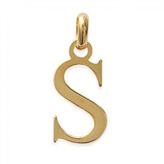 Ciondolo Lettre S Placcato in oro 18k pour Uomo Donna
