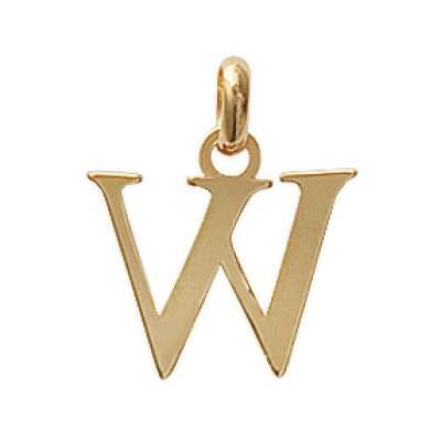 Pendants Lettre W Gold plated 18k pour for Men Women