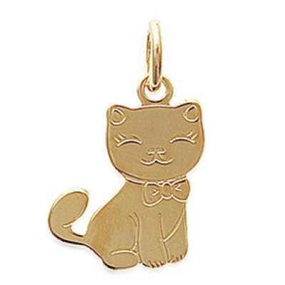 Pendants Chat Gold plated 18k pour for Children Women