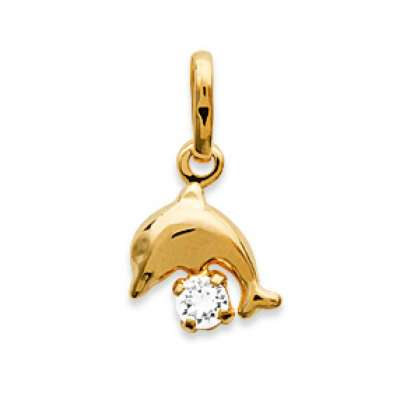 Pendants Dauphin Gold plated 18k avec Crystal pour for...