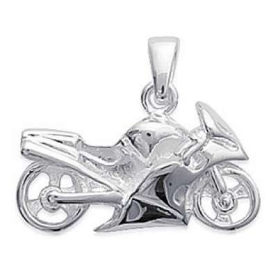 Pendants Moto de Course Argent Rhodié pour for Men Women