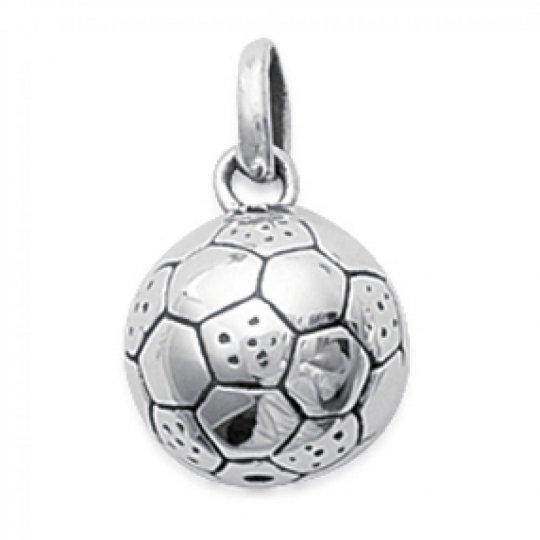 Ciondolo Ballon de football Argent pour Uomo Donna