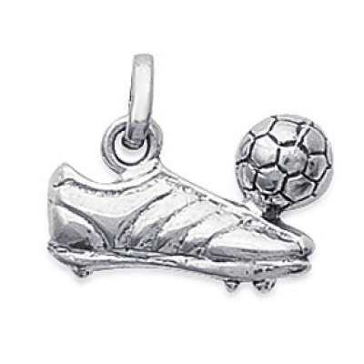 Pendants FOOTBALL Ballon et Chaussure Argent for Men Women