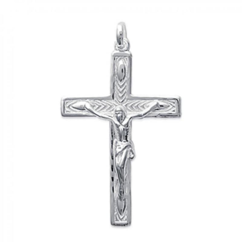 bas prix 568bc 2bbd2 Pendentif Crucifix Jésus Croix Catholique Argent Homme Femme
