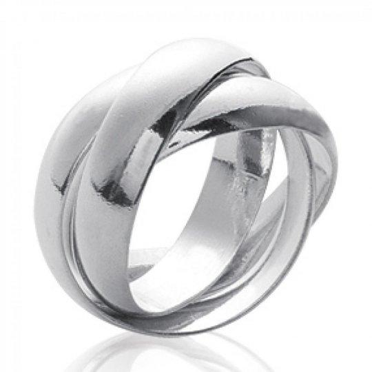 Wedding ring Engagement 3 anneaux pour couple Argent for...