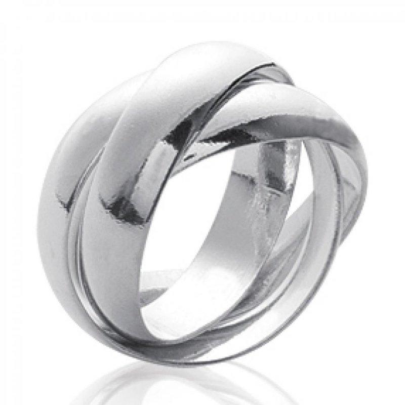 6b8a970bd4e Alliance 3 anneaux pour couple Argent Homme Femme Taille 50