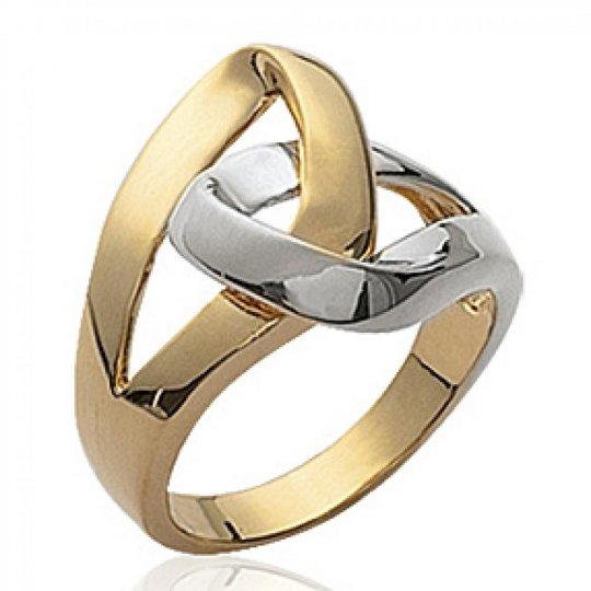 Ringe enlacées Bicolor Vergoldet 18k - Ringe de pouce -...