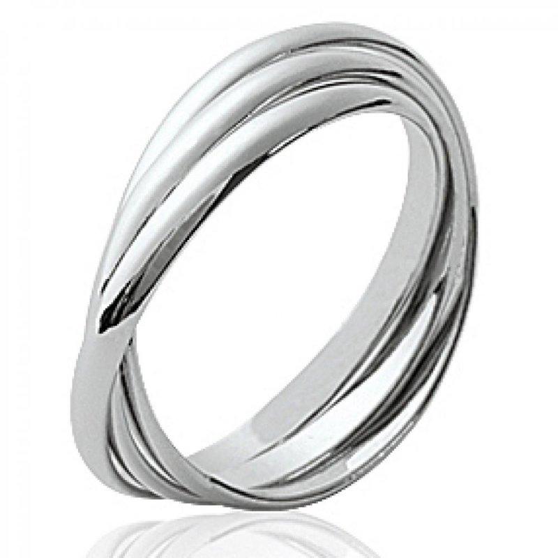 bague argent femme 3 anneaux