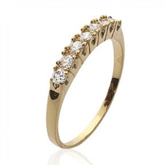 Ring jarretière Gold plated 18k - Zirconium - Promesse &...