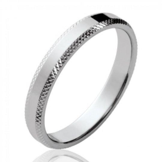 Ring de mariage simple Argent Rhodié - Women