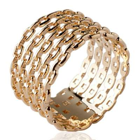 Ringe Kettes rigides Vergoldet 18k - grande Größe - Ringe...