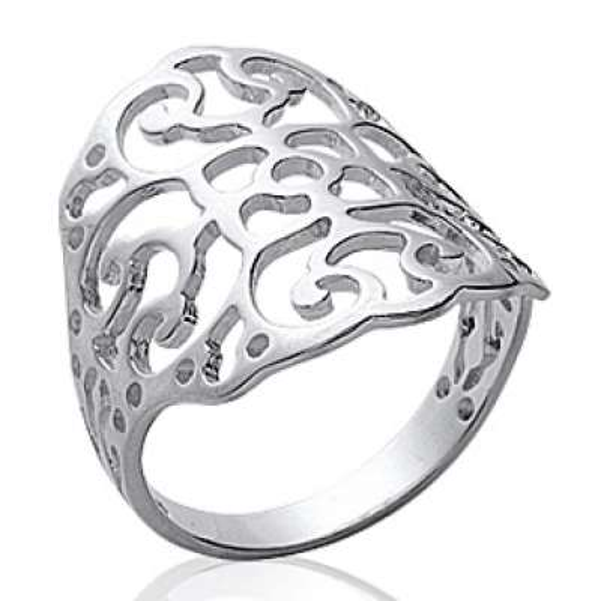 Ring celtique Lacework Argent Rhodié - Women