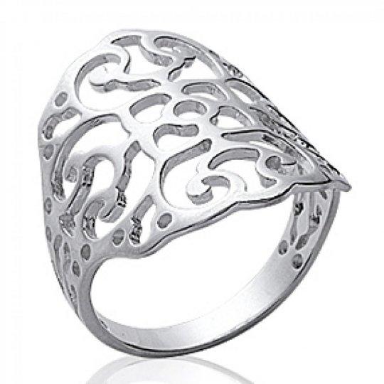 Ringe celtique Spitze Argent Rhodié - Damen