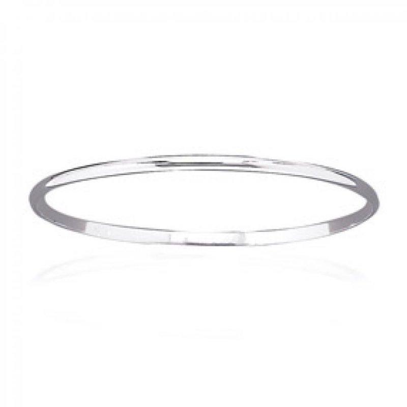 Demi-Armband larg. 2mm 925 Sterling Silber rhodiniert - Damen - 62mm
