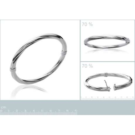 Bracciale Bangle Torsadé Argento Sterling 925 - Donna - 62mm