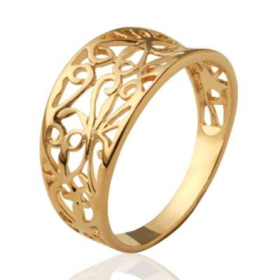 Ring celtique Lacework Gold plated 18k - grande Size &...