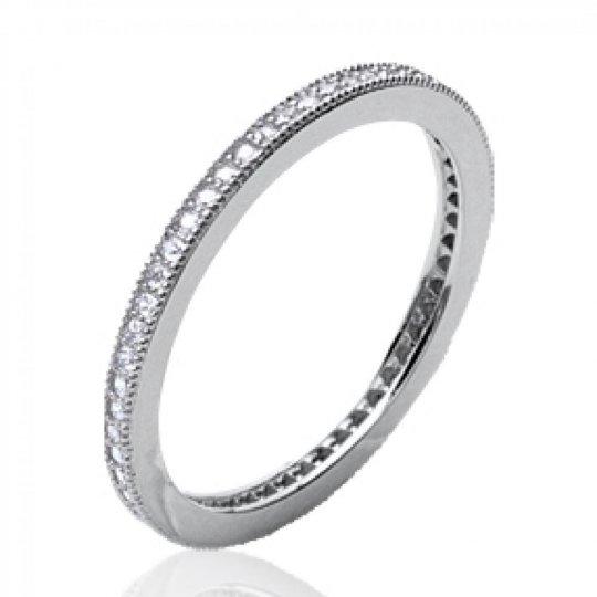 Wedding ring Engagement d'éternité fine Argent Rhodié -...