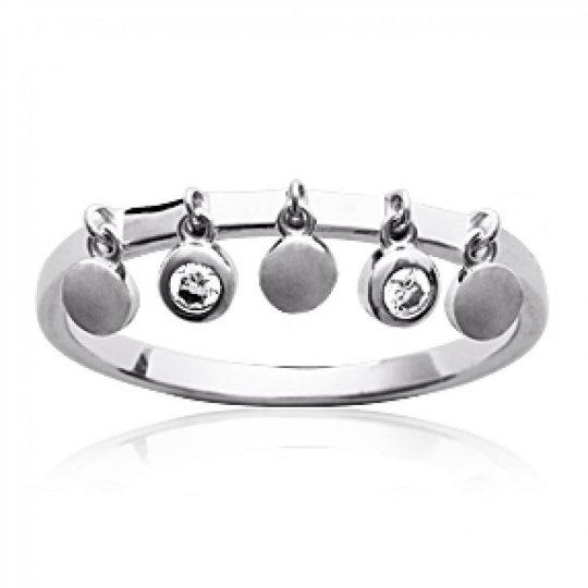 Ring pampilles breloques Argent Rhodié - Zirconium - Women