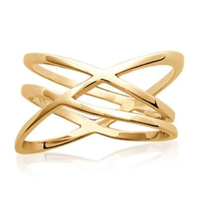 Ring croisée Gold plated 18k fine - Women