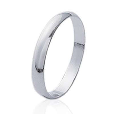 Wedding ring Engagement simple Argent pour for Men Women