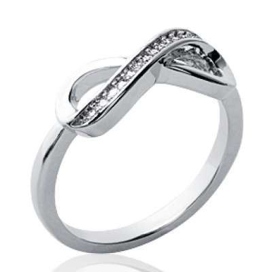 Ring Infinite Argent Rhodié - Cubic Zirconia Microsertis...