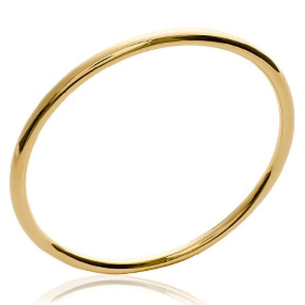 Bangle chic 3mm Gold plated 18k - Women - 62mm