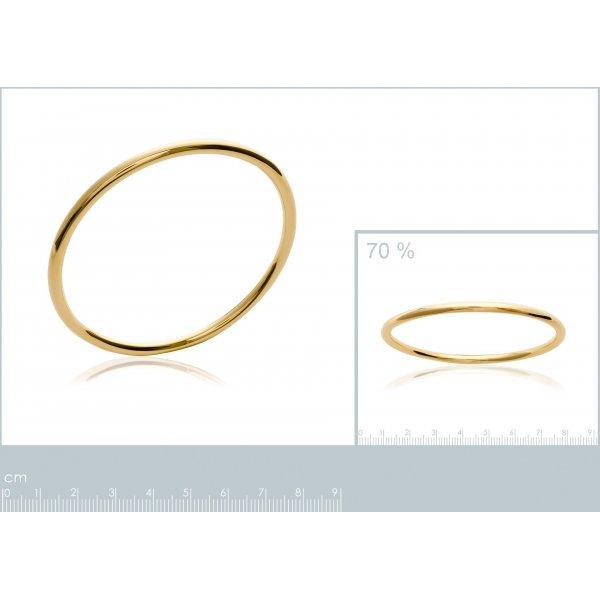 Bracciale Bangle chic 3mm Placcato in oro 18k - Donna - 62mm
