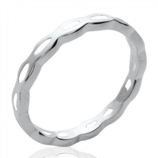 Wedding ring Engagement fine originale Argent - Women
