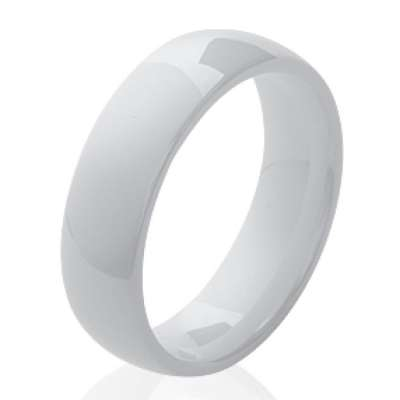 Ring Ceramic White lisse - Women