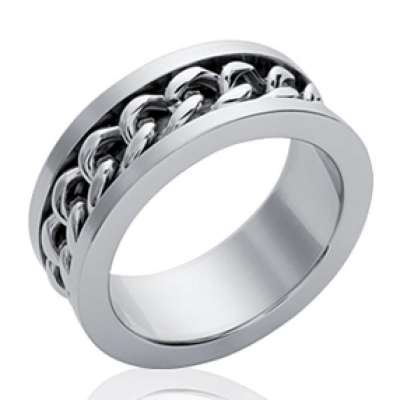 Ring Chain Acier 316L pour for Men