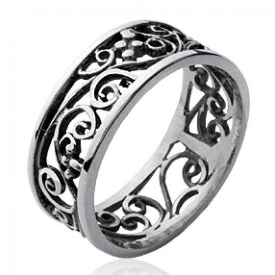 Ring celtique Lacework Argent - grande Size et Ring de pouce