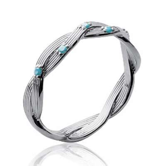 Ring tressée turquoise Argent - Ring de pouce & grande Size