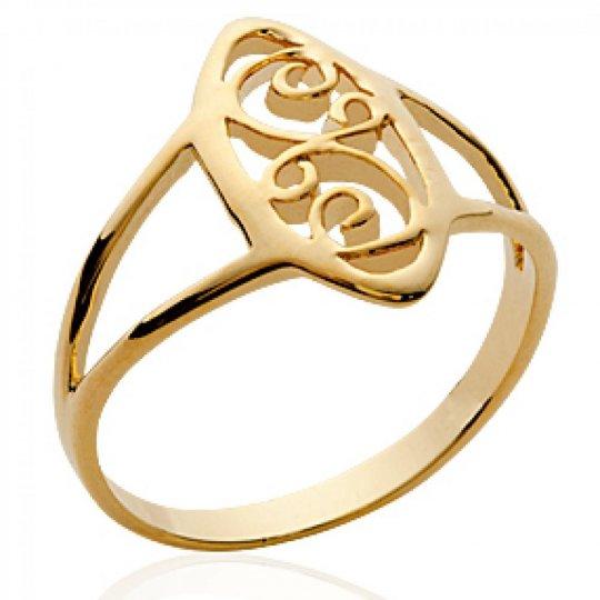 Ring Celtique fine Lacework Gold plated 18k - Women