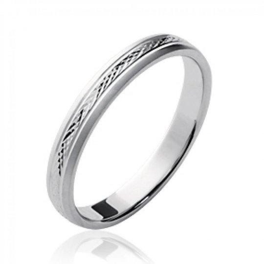 Memoirering simple grande Größe Argent Rhodié - Ringe de...