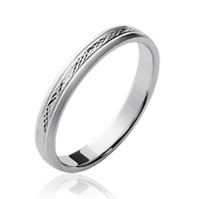 Wedding ring Engagement simple grande Size Argent Rhodié...