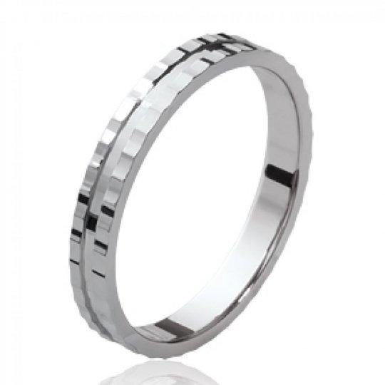 Ring de mariage Argent Rhodié