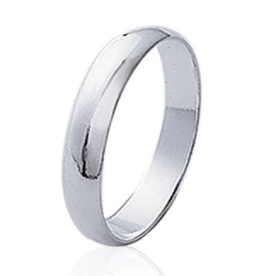 Wedding ring Engagement simple Argent Rhodié pour for Men...