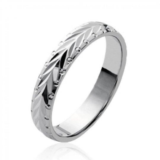 Bague de mariage Argent Rhodié alliance pour Homme