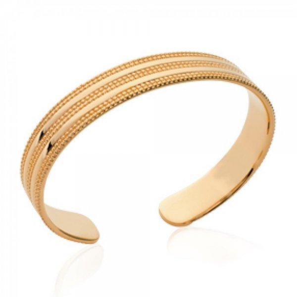 Bracciale Bangle perline Placcato in oro 18k - Donna - 58mm