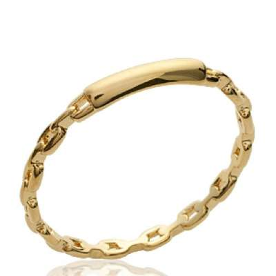 Ring Chain rigide gourmette Gold plated 18k - Women
