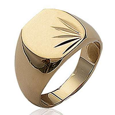 Ring Signet ring à graver Gold plated 18k pour for Men