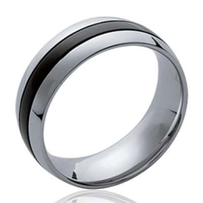 Ring Black Acier 316L - Ruthenium - pour for Men