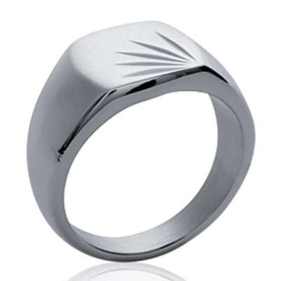 Ring Signet ring pour graver Acier 316L - for Men