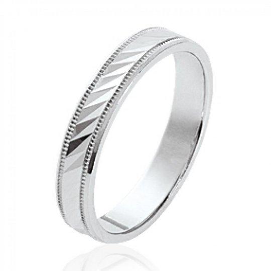 Ring de mariage Argent Rhodié Wedding ring Engagement...