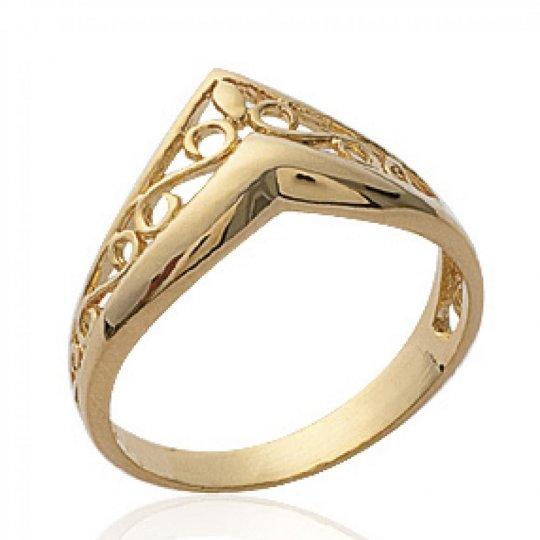 Ringe couronne celtique en v Vergoldet 18k - Ringe de...